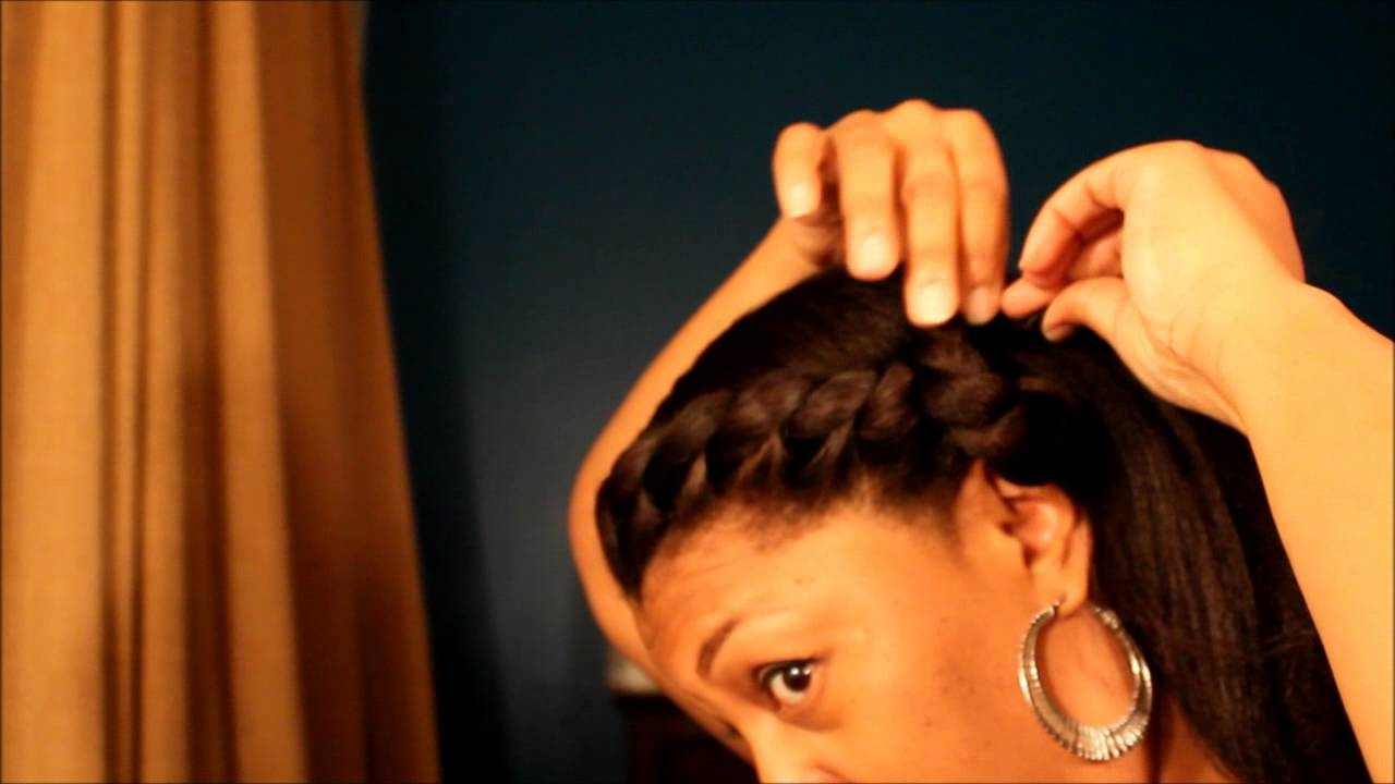 protective style 5 for relaxed natural or transitioning hair - YouTube