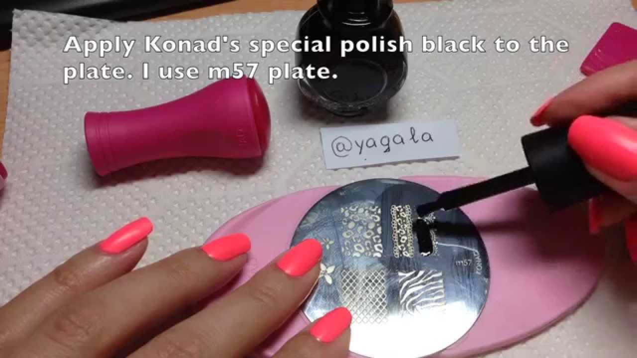 Stamping Nail Art Step by