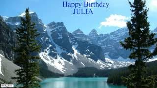 Julia pronunciacion en espanol   Nature & Naturaleza - Happy Birthday