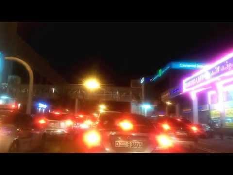Dubai - Night Video - Marriot Hotel Al Jaddaf to Best Western Premier Hotel, Deira