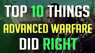 Top 10 Things Call of Duty: Advanced Warfare did Right!