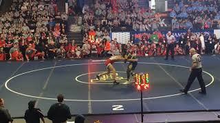 Goodrich's Juwan Vines stuns Lowell's Jacob Lee in state finals