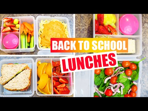 Back To School - DIY Easy Healthy Vegan School Lunch Ideas