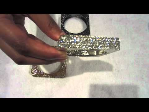 Kim Kardashian inspired Square crystal bangle bracelets