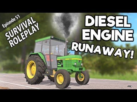 SCARY DIESEL ENGINE RUNAWAY  Survival Roleplay  Episode 51