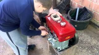 China diesel engine hand crank start