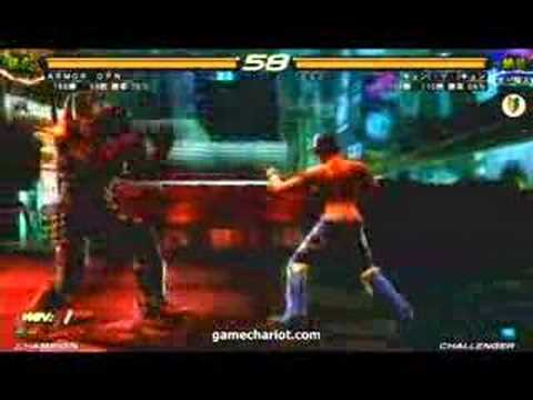 armor king tekken 6. TEKKEN 6 - Armor King vs Julia