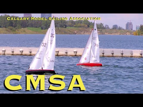 RC CWR Calgary Model Sailing Association at south Glenmore Park