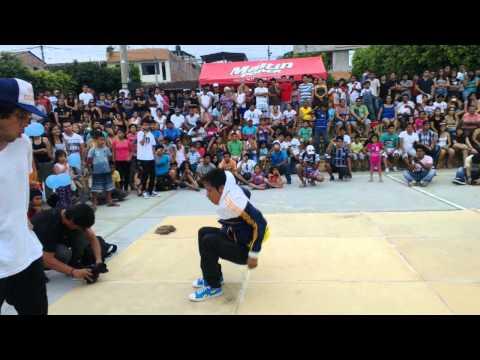 bboy Arthur vs bboy rojo - battle alcanfest 2013/Tarapoto