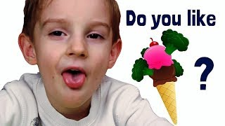 Do You Like Broccoli Ice Cream? | Simple Song Nursery Rhyme by Elya TV