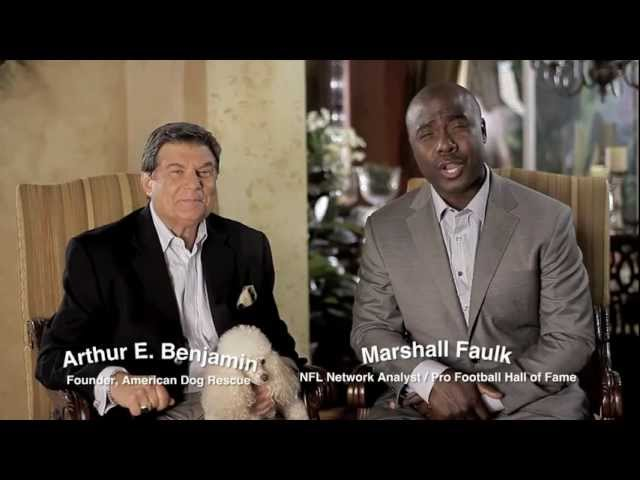 Arthur Benjamin and Marshall Faulk help animal tornado victims from Joplin, MO