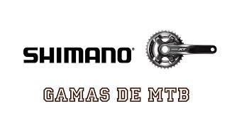 ¿Qué gamas hay de Shimano para MTB? | Ciclismo