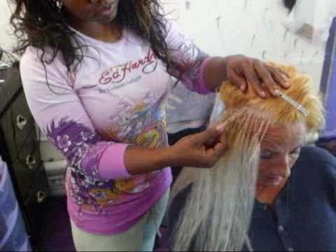 Crochet Hair On White Girl : White Lady with Blonde Human hair Braid..by SaBrina Reece - YouTube