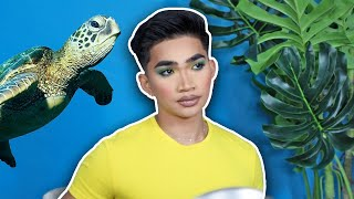 Save the Turtle Makeup Look on Edibles