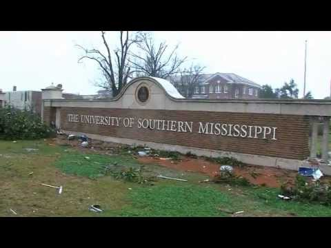 University of Southern Mississippi Tornado Aftermath