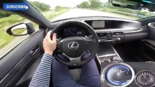 Lexus GS F 2016 Top Speed Acceleration POV 285 km/h 5.0 V8 477 HP