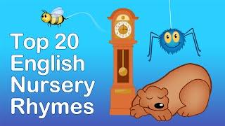 ENGLISH NURSERY RHYMES | 40 MINS LONG. Top 20 English Nursery Rhymes | Preschool Learning Songs
