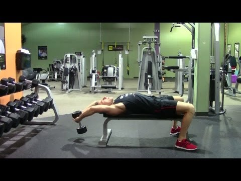 Dumbbell Pullover - HASfit Compound Exercise Demonstration - Dumbbell Pullovers - DB Pullover