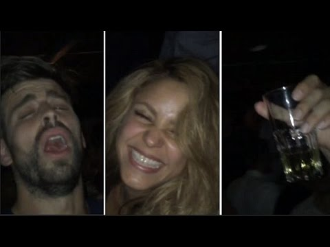 Gerard Pique Celebrates Champions League Win By Partying With Shakira & Lots Of Champagne!