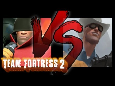 KNIFE MAN JOINS TEAM FORTRESS 2 (Smosh Games VS)