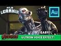 Ultron Voice Effect Adobe Audition Tutorial!   Film Learnin