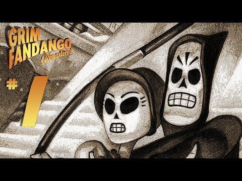 Grim Fandango Remastered - Platinum Trophy Gameplay Walkthrough Part 1