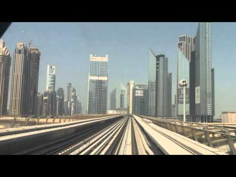 Dubai Metro Cab Ride On The Red Line
