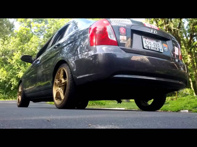 2009 Hyundai Accent GLS- Exhaust Cut Out! Loud and Annoying lol