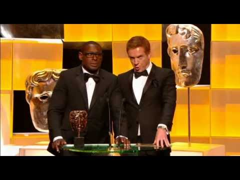 Damian Lewis and David Harewood presenting at the BAFTA TV Awards (12 May 2013)