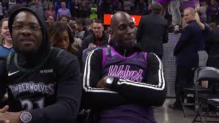 Former Wolves star Kevin Garnett spotted courtside at Target Center