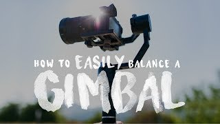 How To EASILY Balance a Gimbal (Zhiyun Crane v2)