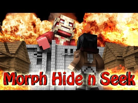 Minecraft | MORPH HIDE AND SEEK - ATTACK ON TITAN MOD!