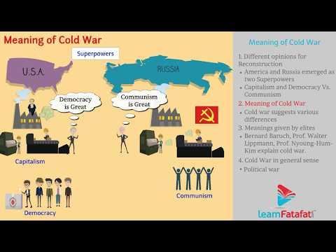 Cold War SSC Board Maharashtra Class 10 History - Meaning of Cold War thumbnail