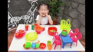Đồ Chơi Nấu Ăn Nhà Bếp Cho Bé - Bé Tập Nấu Ăn |  Cooking Kintchen Toy For Kids | ❤ ManMan TV ❤
