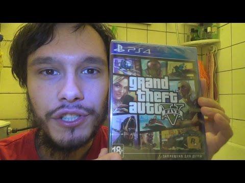 Grand Theft Auto V PS4 Распаковка (Unboxing)