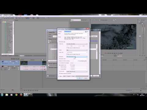 Sony Vegas 12 Tutorial - Best render settings Full HD 1080p Widescreen
