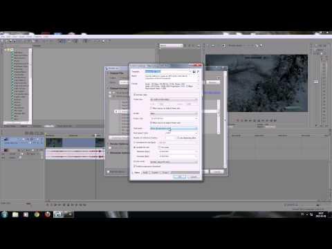 Sony Vegas 12 Tutorial - Best render settings Full HD 1080p Widescreen