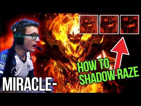 Miracle- Amazing Shadow Fiend - How to Triple Shadow Raze - Dota 2