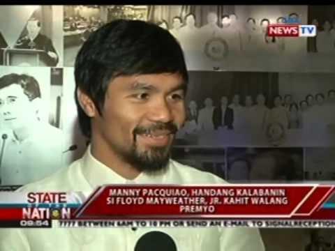SONA: Manny Pacquiao, handang kalabanin si Floyd Mayweather, Jr. kahit walang premyo