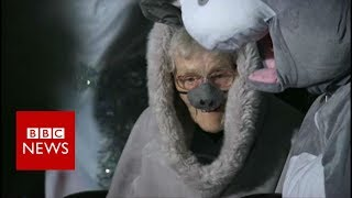 Woman, 98, plays donkey in nativity play - BBC News