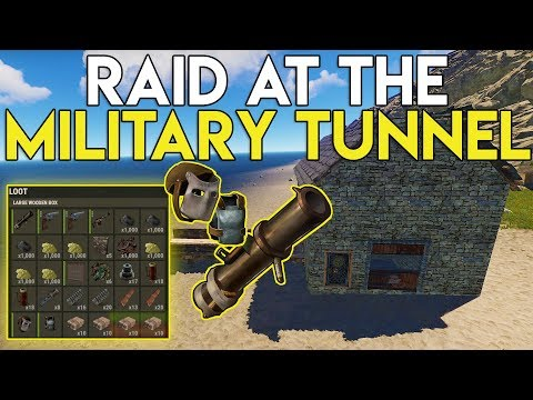 JACKPOT RAID AT THE MILITARY TUNNEL GIVES US ROCKET LAUNCHER! - Rust Survival #57