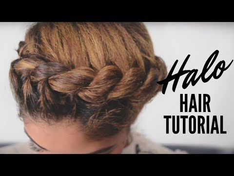 Halo Updo Tutorial on Natural Hair
