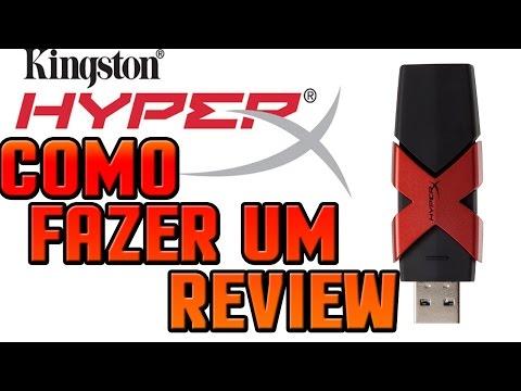 COMO FAZER UM REVIEW : HyperX Savage 64GB USB 3.1