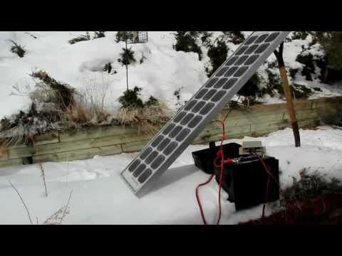 Simple solar in the snow with a pitchfork