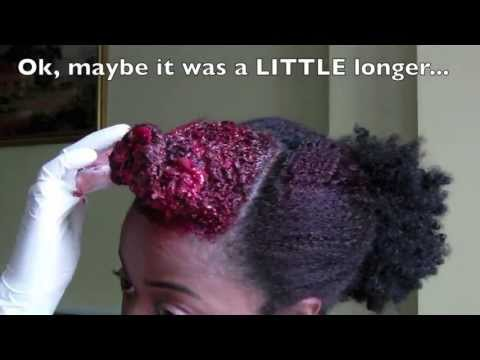 My Natural Hair UK: Dyeing Natural Hair Red   Garnier Olia Re-Colour & Blow Out
