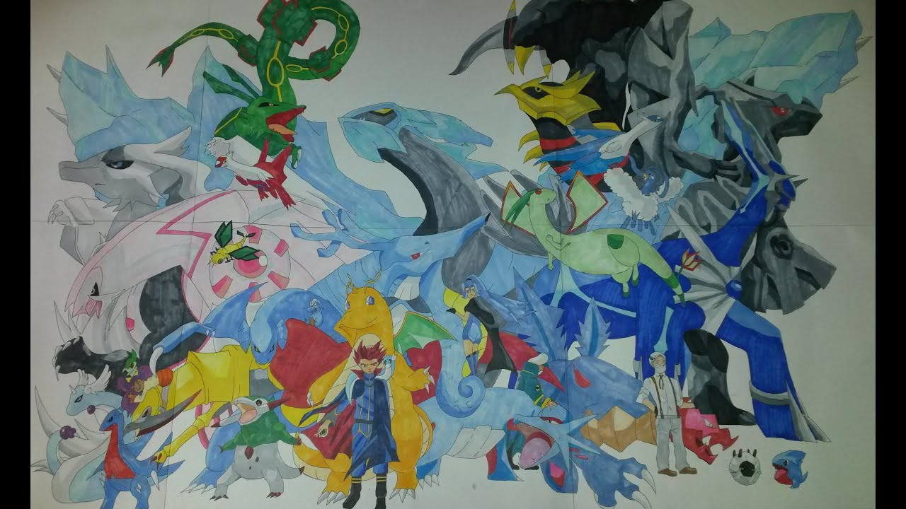 How To Draw Pokemon Dragons Gen 1 5 Dragonite Hoxarus