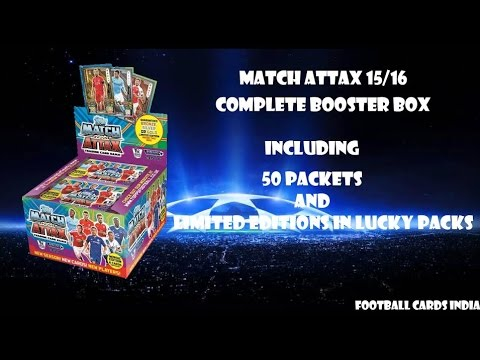 INDIA PREMIERE- COMPLETE BOOSTER BOX BREAK MATCH ATTAX 2015/16