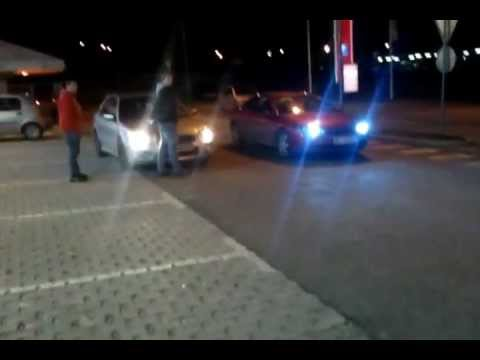 NIGHT RACE  Impreza WRX  vs. Cougar V6   by Apii