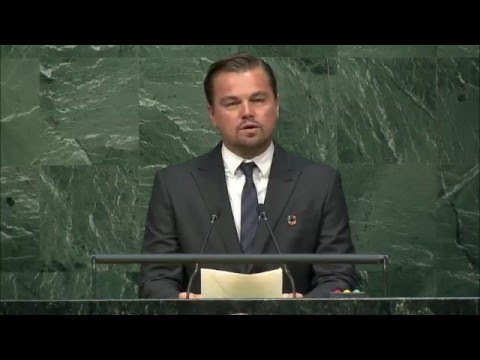 Leonardo DiCaprio, High-level Signature Ceremony for the Paris Agreement
