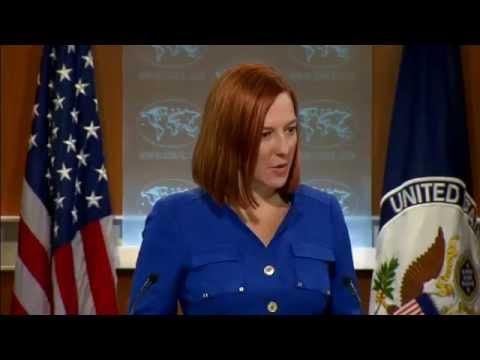 "Psaki: ""We see Ukrainian reports that Russia has…"" 07 Nov 2014"